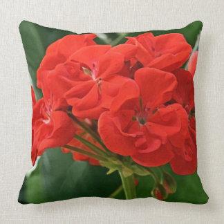 Red Geranium Cushion