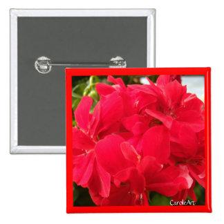"""Red Geranium Petals"" Pin"
