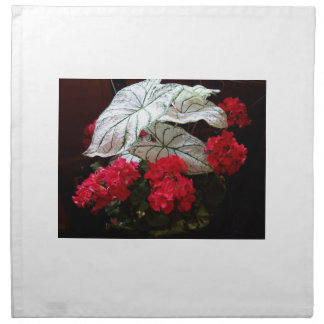 Red Geranium photo on napkins by gbillips
