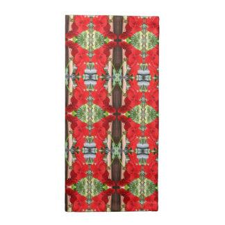 Red Geranium Stripes Cloth Napkins