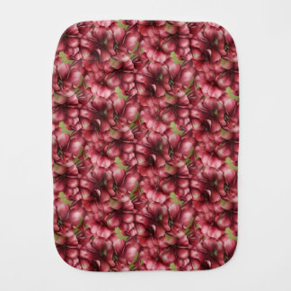 Red Geraniums Burp Cloth