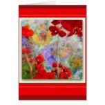 Red Geraniums Garden by Sharles