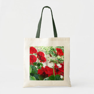 Red Geraniums Tote A Great Garden Gift