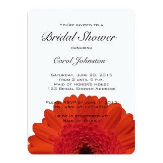 Red Gerber Daisy Bridal Shower Invitation