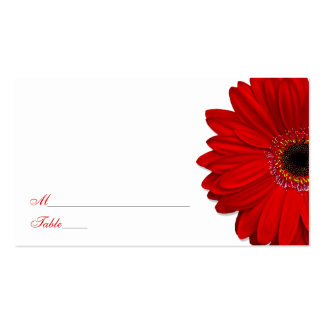 Red Gerber Daisy Wedding Place Cards Pack Of Standard Business Cards