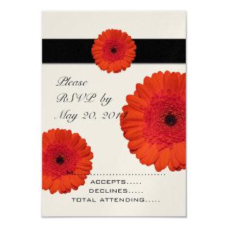 Red Gerber Daisy Wedding RSVP Cards