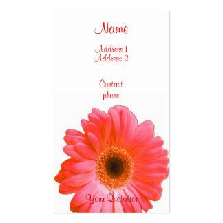 Red Gerbera Business Cards