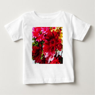 Red Gerbera Daisy Abstract Baby T-Shirt