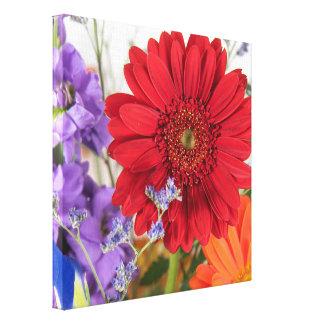 Red Gerbera Daisy Arrangement Canvas Print