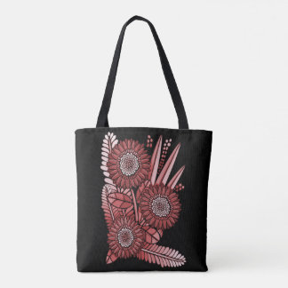 Red Gerbera Daisy Flower Bouquet Tote Bag