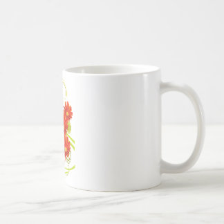 Red Gerbera Daisy Coffee Mugs