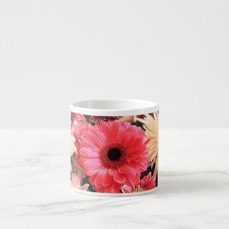 Red Gerbera Daisy Espresso Cups