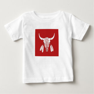Red Ghost Dance Buffalo baby shirt