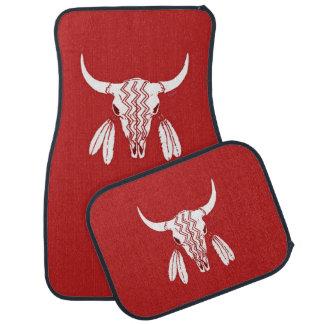 Red Ghost Dance Buffalo car mats front & rear