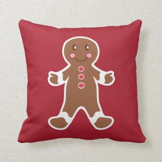 Red Gingerbread Boy Pillow