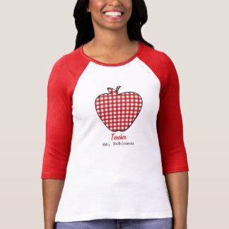 Red Gingham Apple Teacher T-Shirt