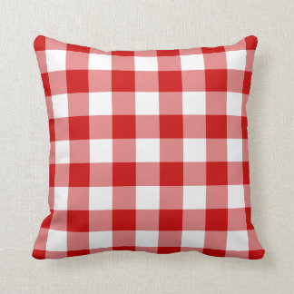 Red Gingham Cushion