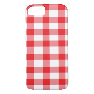 Red Gingham iPhone 7 Case