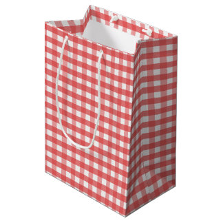 Red Gingham Medium Gift Bag