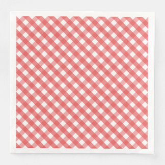 Red Gingham Paper Napkin