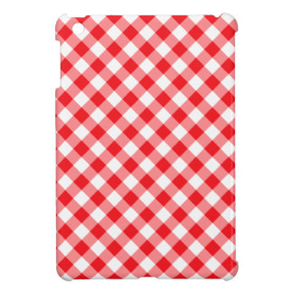 Red gingham pattern checkered checkers case for the iPad mini