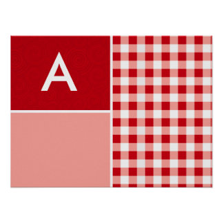 Red Gingham Print
