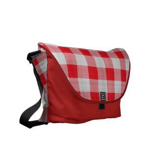 Red Gingham Rickshaw Messenger Bag