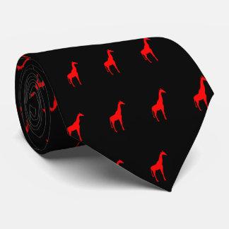 Red Giraffe on Black Tie