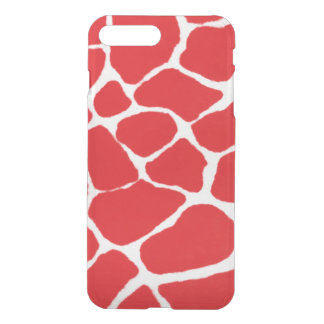 Red Giraffe Pattern iPhone 7 Plus Case