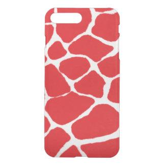 Red Giraffe Pattern iPhone 7 Plus Case