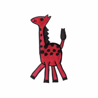 Red Giraffe Photo Photo Sculpture