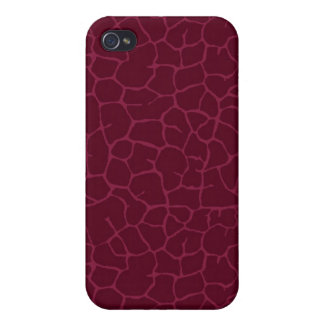 Red giraffe print case for the iPhone 4
