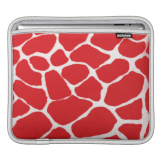 Red Giraffe Print Sleeves For iPads