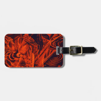 Red girl luggage tag