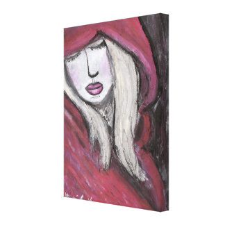Red Girl Wrapped Canvas