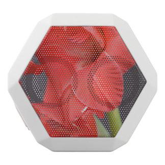 Red Gladiola Flowers White Boombot Rex Bluetooth Speaker