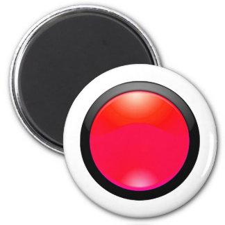 Red Glass Refrigerator Magnet