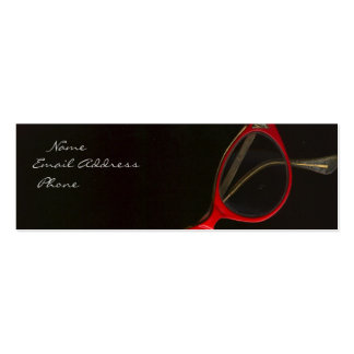 Red Glasses by Leslie Harlow Business Card Templates