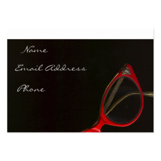 Red Glasses by Leslie Harlow - Customized Pack Of Chubby Business Cards