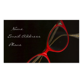 Red Glasses by Leslie Harlow - Customized Pack Of Standard Business Cards