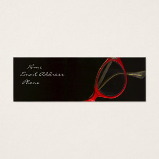Red Glasses by Leslie Harlow Mini Business Card