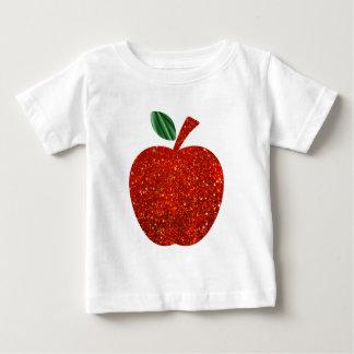 Red Glitter Apple Baby T-Shirt