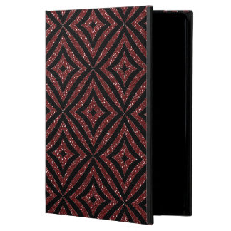Red Glitter Black Pattern Girly iPad Case