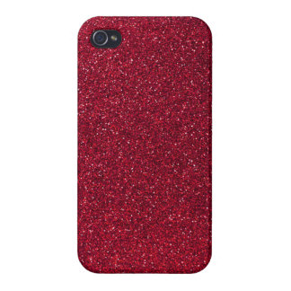 Red Glitter Cases For iPhone 4