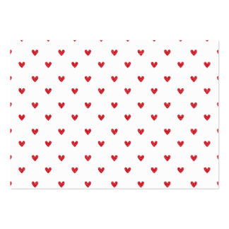 Red Glitter Hearts Pattern Business Cards