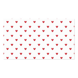 Red Glitter Hearts Pattern Business Card