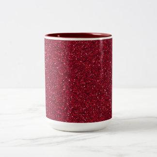 Red Glitter Two-Tone Mug
