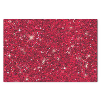 Red Glitter Pattern ID144 Tissue Paper
