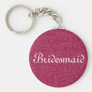 Red Glitter Personalized Bridesmaid Key Ring