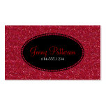 Red Glitter Pretty Elegant Business Cards